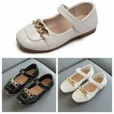 Giày búp bê da đế mềm khóa dán thời trang cho bé gái - Giày bệt