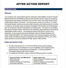 Sample After Action Report – 6+ Documents In Pdf With After Training ...