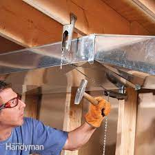 how to flatten basement air ducts to