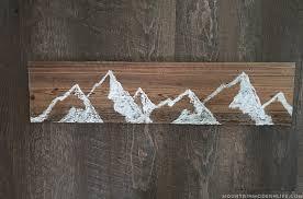 how to make reclaimed mountain wall art