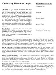 Sample Executive Summary Template For Business Plan 8 Executive