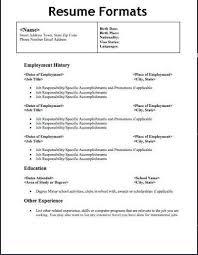 Modern Resume Pdf Types Resume Format Examples Resume Format Download