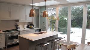 Copper Pendant Light Kitchen Modern With Barstool Kitchen Island Kitchen.  Image By: Yorkshireconstructionandmaintenance