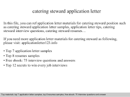 catering steward application letter in this file you can ref application letter materials for catering bar manager cover letter
