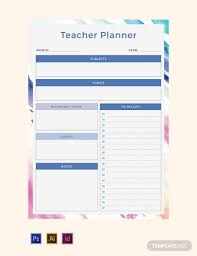 Free 7 Teacher Planner Examples Templates Download Now