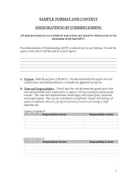Memo Format On Word Memorandum Of Understanding Featuring Free Understanding Sample 14