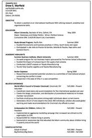international format of cv sample entry level international trade resume http