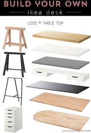white table top ikea. Build Your Own Modern + Sleek Desk For As Low $26 (like This Pretty One  With Trestle Legs White Table Top!) Top Ikea E