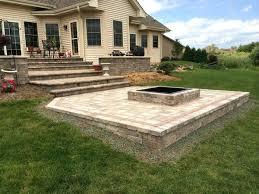 patio with square fire pit. Floor Concrete Patio With Square Fire Pit Fresh Throughout For Pits Design . -