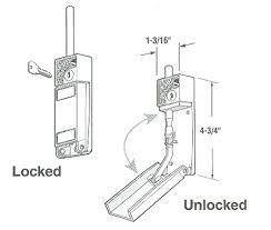 sliding door bolt lock measurements