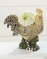 at horchow mackenzie childs mackenzie childs rooster indoor planter