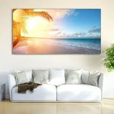 beach themed wall art coastal print ocean wall art tropical decor nature sunrise wall art canvas on tropical wall art uk with beach themed wall art cherrywoodcustom me
