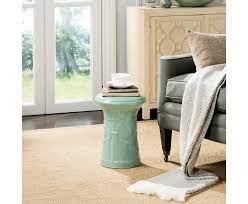 light aqua imperial scroll garden stool