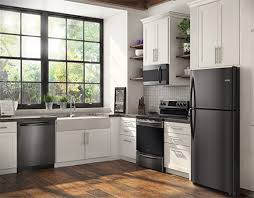 stainless steel appliances.  Stainless A Beautiful New Look With The Same Easyto Clean Fingerprintresistant  Finish Introducing NEW Frigidaire Gallery SmudgeProof Black Stainless Steel  On Appliances