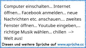 Computer An Internet Facebook 2 Seite Aufmachen Youtube Musik