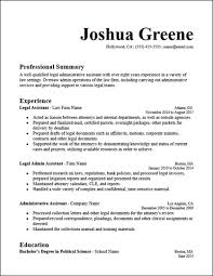Administrative Assistant Summary Resumes Legal Administrative Assistant Resume Template Hirepowers Net