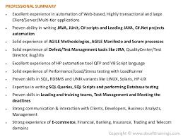 Selenium Resume Resume Templates