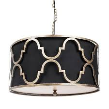 aurelle home era gold and black pendant