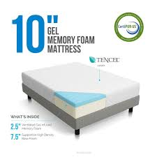 memory foam mattress box. LUCID 10 Inch Gel Memory Foam Mattress - Dual-Layered CertiPUR-US Certified 10-Year Warranty Queen: Amazon.ca: Home \u0026 Kitchen Box R