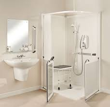 impress two sided shower cubicle with ultra low profile shower tray ideal for disabled and