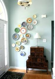 decorating with plates on wall hanging