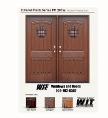 fiberglass double entry doors with speakeasy