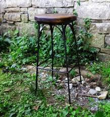 French Bistro - <b>Reclaimed</b> Wood Industrial <b>Style Stool</b> | <b>Strong</b> Oaks ...