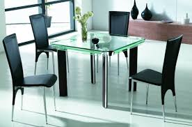 dining room furniture glass table tables top glasgow rectangular round set with bench chairs contemporary black small compact large and erfly metal