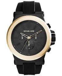 michael kors men s chronograph dylan black silicone strap watch michael kors men s chronograph dylan black silicone strap watch 48mm mk8383 men s watches jewelry