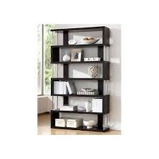 office furniture shelves. bookcase wall unit 6 shelves brown wood storage home office furniture book shelf e