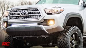 2018 Tacoma Light Bar Installing 2016 2018 Toyota Tacoma 30 Inch Light Bar Bumper Mount By Rough Country