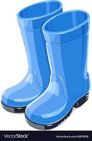 garden boots. Rubber Garden Boots Vector Image