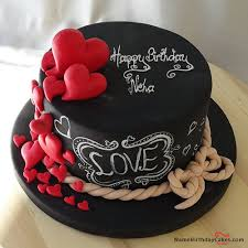 happy birthday chocolate cake for friend in heart shape neha. Unique Heart The Name Neha Is Generated On Hearts Chocolate Birthday Cake For Lover  With Name Image Download And Share Cakes Images Impress  Happy Friend In Heart Shape Neha Pinterest