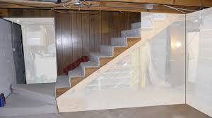 Excellent Small Basement Remodeling Ideas Photo Concept Renovation - Unfinished basement stairs