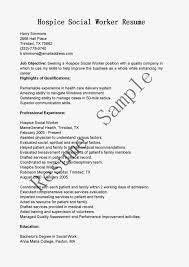 Sample Resume: Social Worker Resume With Hospice Sle.