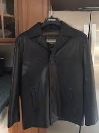 black wilsons leather coat