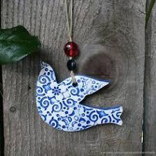 Ceramic <b>Bird</b> Wall Art, <b>Bird</b> Wall Hanging, Dove <b>ornament</b>, Ceramic ...