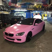Coupe Series black and pink bmw : Follow @Autosport718 BMW 6 gran coupe wrapped bubblegum pink satin ...