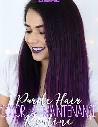 purple hair color maintenance routine