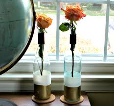 Ideas To Decorate Wine Bottles DIY Paint Dipped Wine Bottle Vases 77