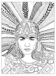 Small Picture Free coloring page coloring adult chief mayan by olivier A great