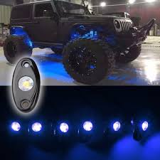 Led Lights For Under Truck Us 54 18 14 Off 8 Pods Led Rock Light Universal Fit Waterproof Cars Offroad Truck Boat Deck Underbody Interior Exterior Blue In Car Light Assembly