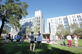 fordham college rose hill. new residents get a close look at campbell, salice and conley halls on aug. fordham college rose hill
