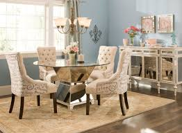 Dining Room Decorations Glass Table Round And Leather C Sewstars