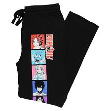 Character Pants Fairy Tail Character Blocks Mens Lounge Pajama Pants