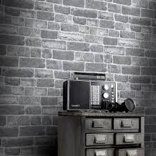 rasch urban stone brick grey wallpaper 217346