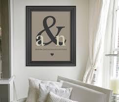 Baby Monogram Wall Decor Personalized Wedding Present Ampersand Monogram Art Print