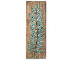 blue metal leaves swaying right wooden wall d cor big lots on metal wall art big with i found a cream leaves framed metal wall d cor at big lots for less
