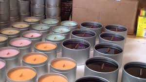 making candles wooden wick soy candles