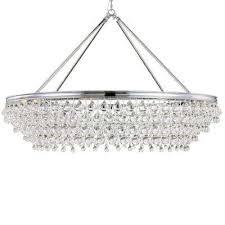 calypso 8 light crystal teardrop chrome chandelier